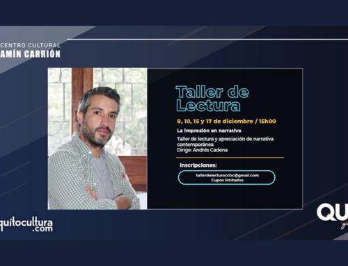 TALLER DE LECTURA DE NARRATIVA CONTEMPORÁNEA CON ANDRÉS CADENA